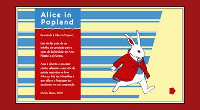 Tela inicial de Alice in Popland