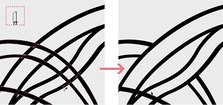 Cortando linhas sobrepostas com a faca no illustrator