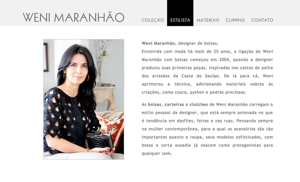 Weni Maranhão - Estilista